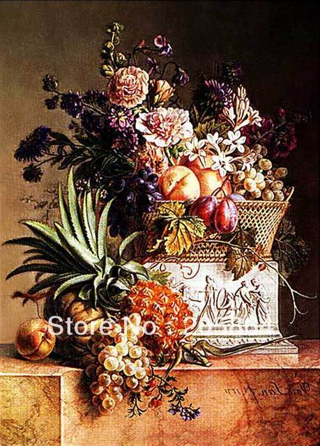 Free shipping hot sell  famous picture,a bunch of flowers ,wall tapestry of bouquet and fruits,Art pictures for Dining room