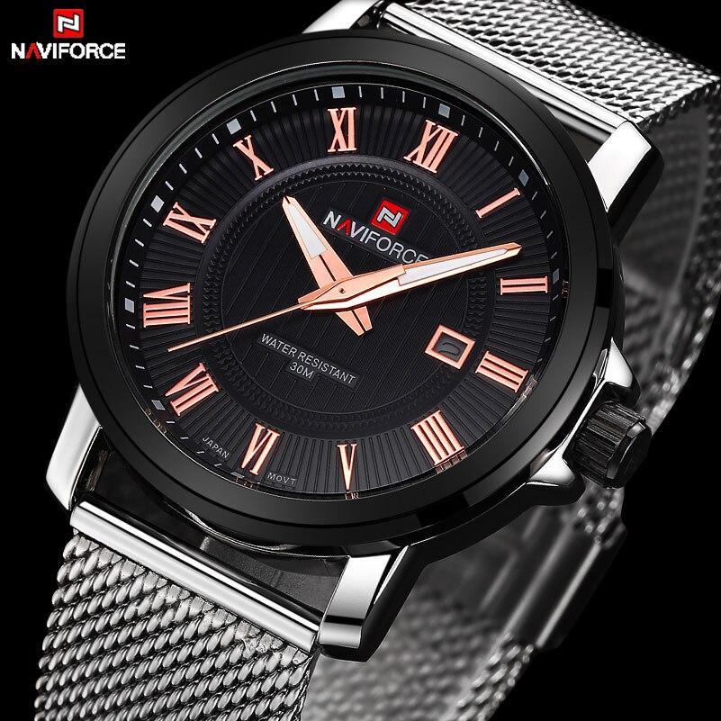 NAVIFORCE Luxury Brand font b Men s b font Quartz Watch Casual font b Men b