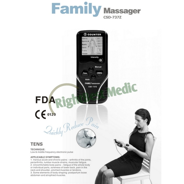 Portable Digital TENS (Transcutaneous Electrical Nerve Stimulation ) Muscle Stimulator relieving Pain body Massager CE approved