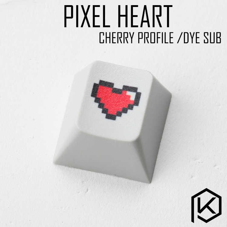الجدة الكرز الشخصي pbt keycap للوحة المفاتيح الميكانيكية صبغ الفرعية الأساطير بكسل القلب أسود أحمر