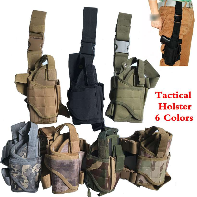 Precise Black Puttee Thigh Leg Tactical Holster+magazine Pouches Holders Gun Holster Protective Fit For Colt 1911 Soft And Antislippery Shoes Women's Shoes