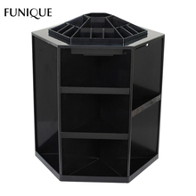 FUNIQUE Women Handmade Earring Necklace Jewelry Carrying Cases & Displays Black Pink White Plastic Rotable Jewelry Stand Display