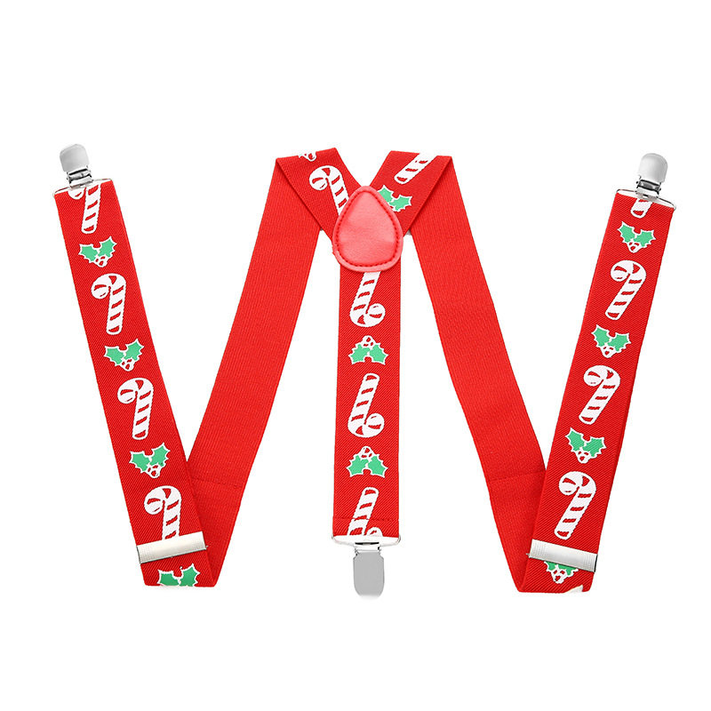 Christmas Festival Performance Adult Jacquard Elastic Suspenders FY18101908