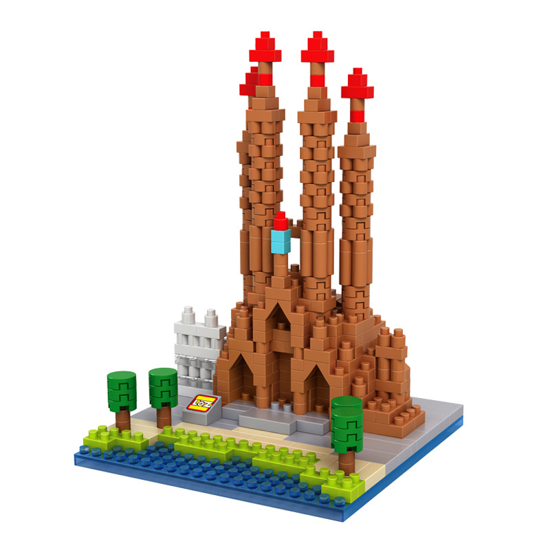 World Famous Building Nanoblocks Basilica I Temple Expiatori De La Sagrada Familia Barcelona Spain Assemble Building