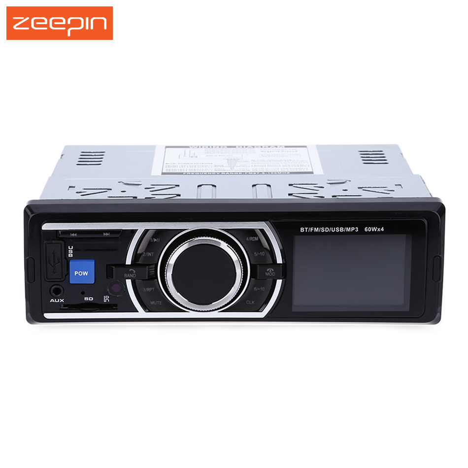цена на 1Din Car Radio MP3 Stereo Bluetooth Player With Remote Control AUX-IN Audio Player USB SD Port Car Electronics Autoradio