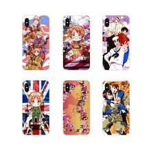 Aksesoris Ponsel Shell Case Anime Hetalia: Axis Powers untuk Apple iPhone X XR X Max 4 4 S 5 5 S 5C Se 6 6 S 7 7 Plus IPod Touch 5 6(China)