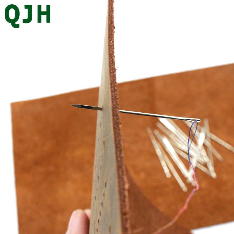 Leathercraft DIY Triangular de Couro pele De Couro Em Forma de Especial de Aço Inoxidável Agulhas Pin Ponto Needlework Costura Suprimentos