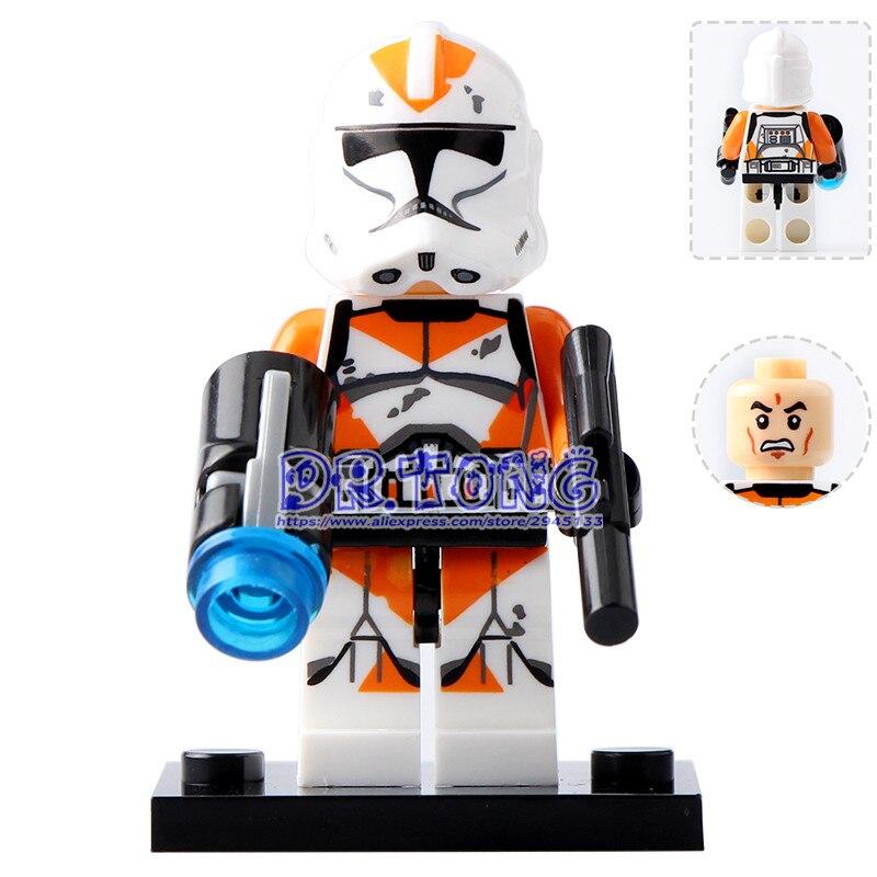 DR TONG Single Sale XH630 Orange Utapau Clone Trooper Figures Building Blocks Bricks Set Model Toys