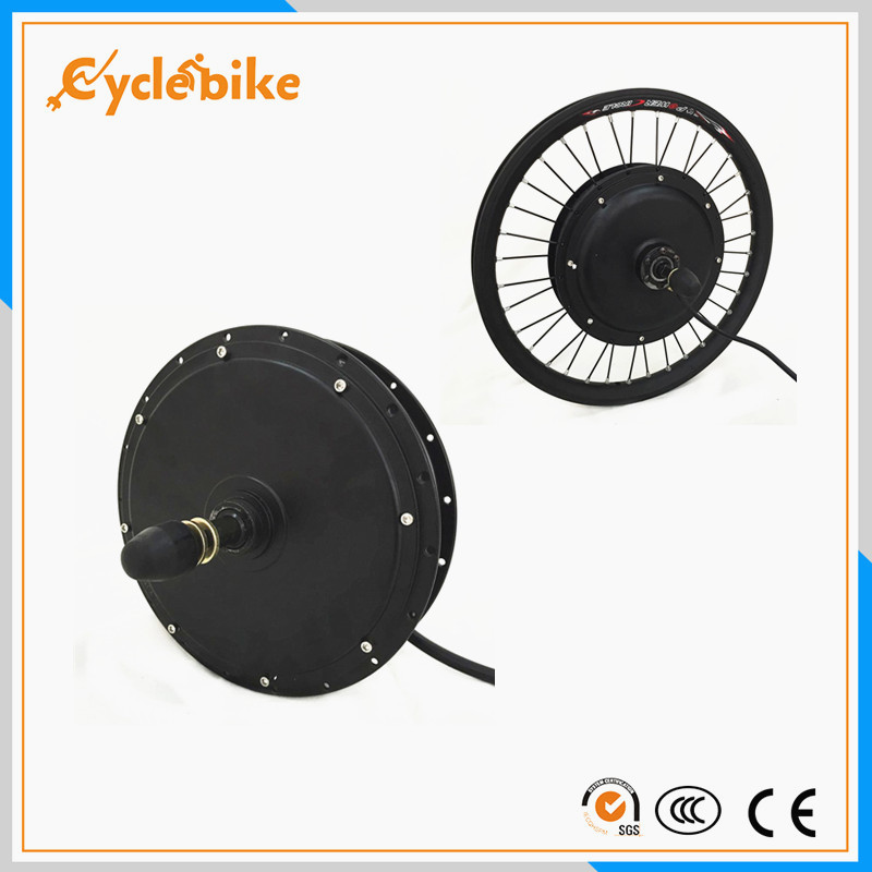 Free shipping V W Electric Bicycle Motor Ebike Brushless Gearless Hub Motor