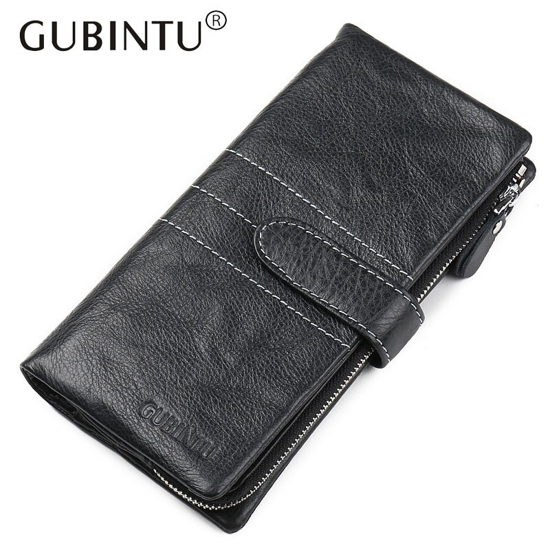 Genuine Leather Wallet Fashion Hasp Purse Soft Long Clutch Walet Men Zipper Carteira Coin Bag Pocket with Card Holder Wallets