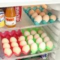 2017 Nueva Venta Sin Engrosamiento de Alimentos puede ser Superpuesta 15 rejilla de Huevo Caja de Almacenamiento de Caja de Huevo cocina Refrigerador Anti Roto almacenamiento