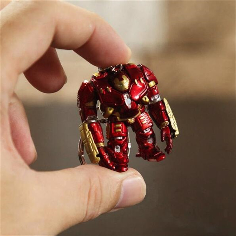 Anime The Avengers Iron Man Hulkbuster Cosplay Badge Figure Doll Robot Key Chain