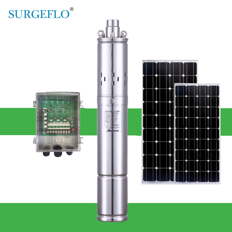 Free Controller c72v brushless motor solar pump farm family water pump agriculture irrigation 3 years warranty solar pump system free shipping 60m max head solar water pump agricultural irrigation with battery option 3 years warranty 4sps3 0 60 d36 500