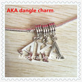 AKA dangle charm with bail European alpha beads sorority greek bracelet finding America hot handmake accessory,OPB009,10lot30pcs