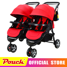 Infants and twin baby stroller free delivery to Russia double shock can split multiple birth children twins can sit flat