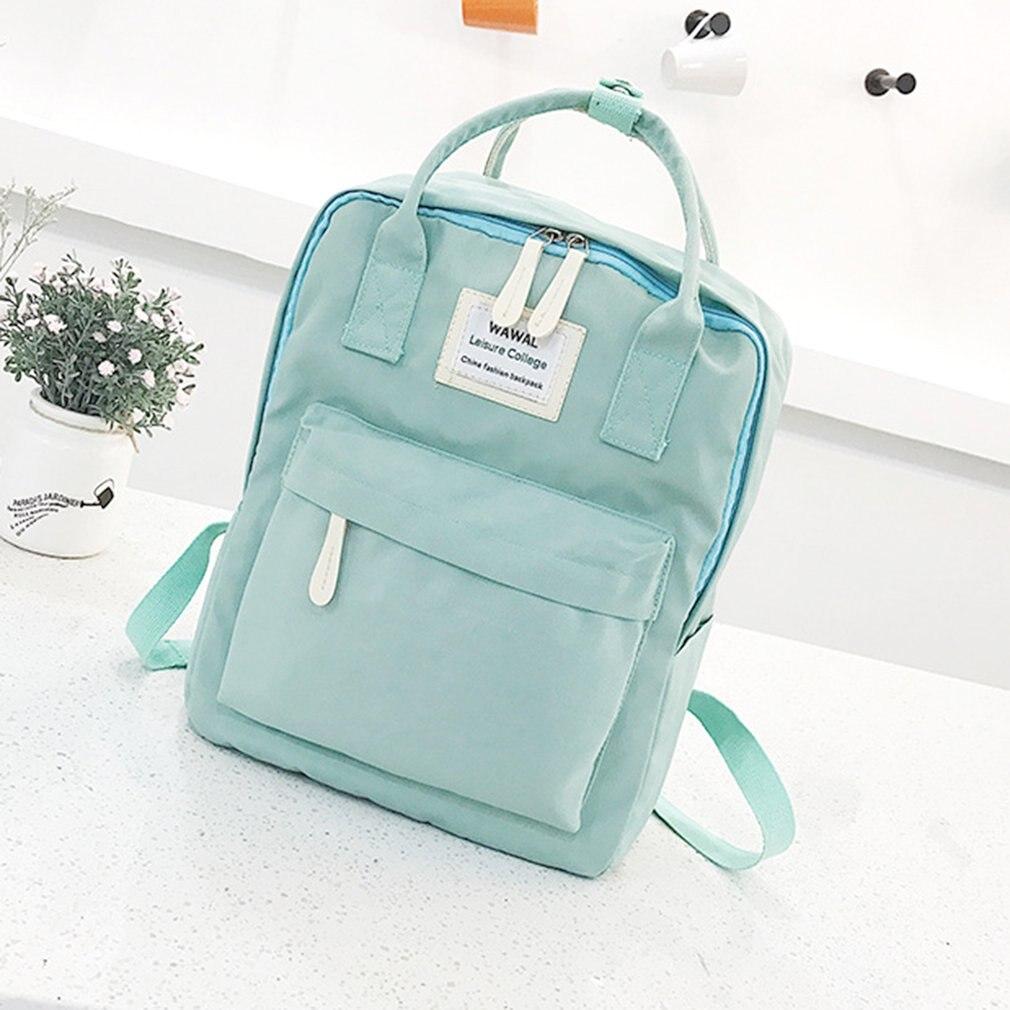 Cute Canvas fashion Backpack female kanken backpack design for girls leisure travel school  bags bone com cruz sagrada