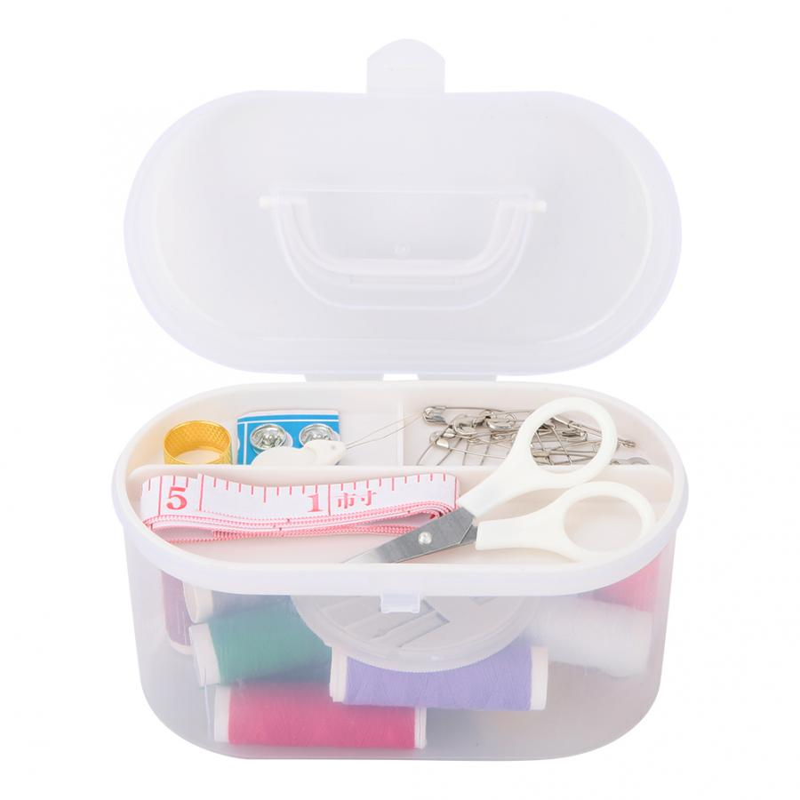 Portable Outdoor Travel Home Sewing Kit Measure Scissor Thread Needle Set with Storage Box(China)