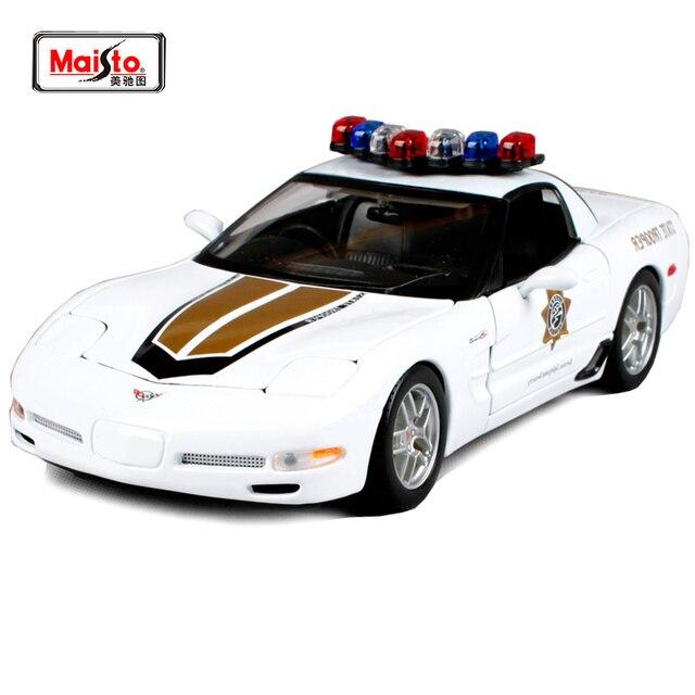 maisto 1 18 corvette z06 voiture de police voiture miniature jouet neuf dans la bo te livraison. Black Bedroom Furniture Sets. Home Design Ideas