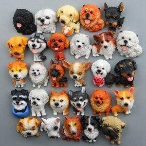 Image 2 - Pegatinas magnéticas de dibujos animados para niños, imán para nevera, Mini Bulldog Husky, para educación temprana, para nevera, 1 unidad