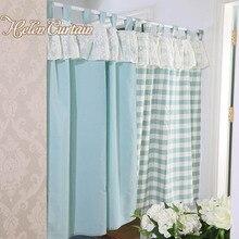 Хелен Занавес Установить Японский Стиль Плед короткие кружевные Шторы Кухня для гостиной цветок дверные занавески готовые 005