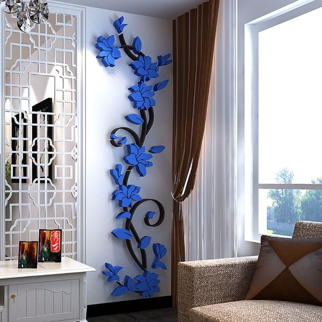 3D DIY Vase Flower Tree Removable Art Vinyl Wall Stickers Decal Mural Home Decor For Home Bedroom Decoration Hot Sale 6