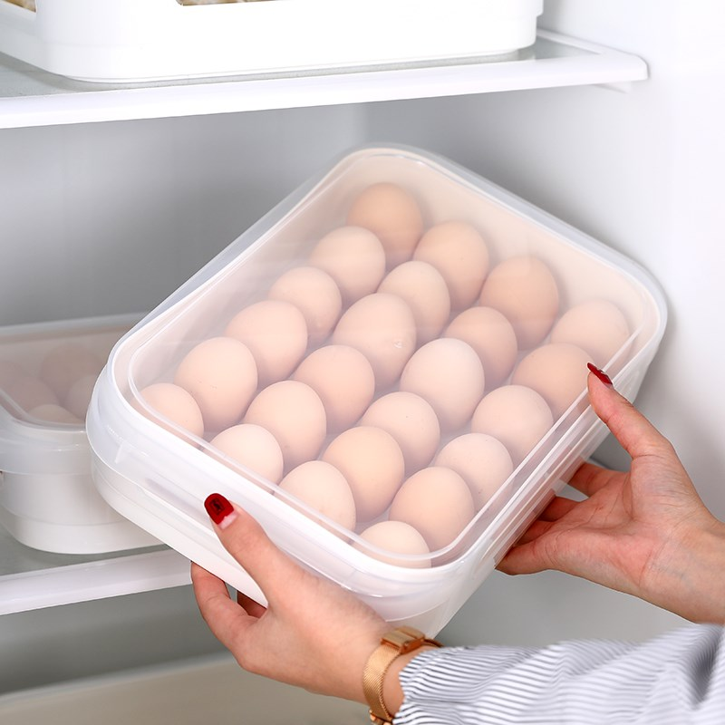 Large Clear Plastic Dumpling Storage Box Home Refrigerator Cake Food Container