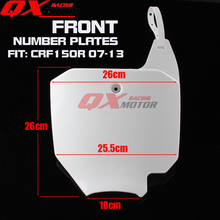 Front Number Plates For Honda CRF 150R CRF150R Dirt Pit Bike Motocross Motorcycle Free Shipping