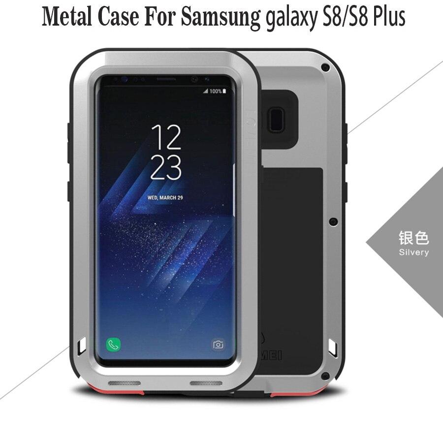 """imágenes para Galaxy S8 + Caso AMOR MEI Potente Lujo Doom Metal Armor Choque Caso de Aluminio a prueba De Coque Para Samsung Galaxy S8 S8 Plus 6.2"""""""
