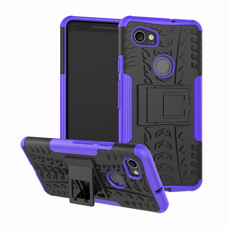 Cool Armor Case For Google Pixel 2 Case Silicone PC Hybrid Stand Cases For HTC Pixel 2 Cover Coque Shockproof Pixel2