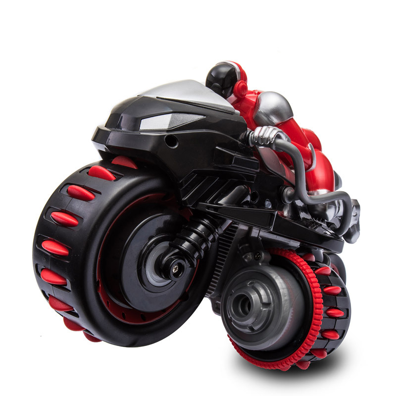 New 2.4G RC Motorcycle High Speed Drift Roll Stunt RC Motorbike Model Toys Remote Control Motor with Light Toy for Children Gift