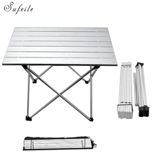 SUFEILE Aluminum Alloy Portable Folding Able Desk Camping Picnic Outdoors Tea Barbecue Table Folding Outdoor Computer Desk D20