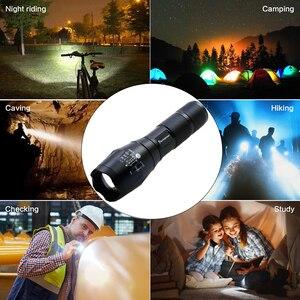 Image 2 - Drop Shipper Promotion Set! LED Flashlight T6 Tactical Flash Light + Q5 Mini Torch Lanterna Zoomable Waterproof Flashlight Bike