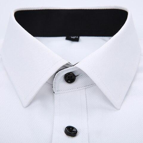 2019 New Arrived Striped Twill Men Dress Shirts Mens Work Shirts Brand Long Sleeve White Male Shirts 4xl Business Shirts YN10183 Islamabad