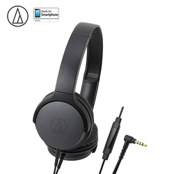 Original Audio Technica ATH-AR1IS Wired Earphone With Remote Control With Mic Music Headphones Lightweight Folding Headset
