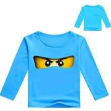 High quality boy t-shirt long-sleeved childrens new fashion cartoon print T-shirt H201