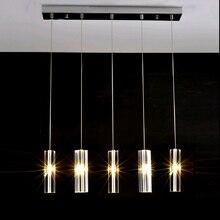 Современный подвесной светильник Обеденная подвесной светильник творческий привело подвесные светильники для Гостиная кристалл лампы висит Спальня свет подсветка для кухни висит Подвесная лампа светильник подвесной