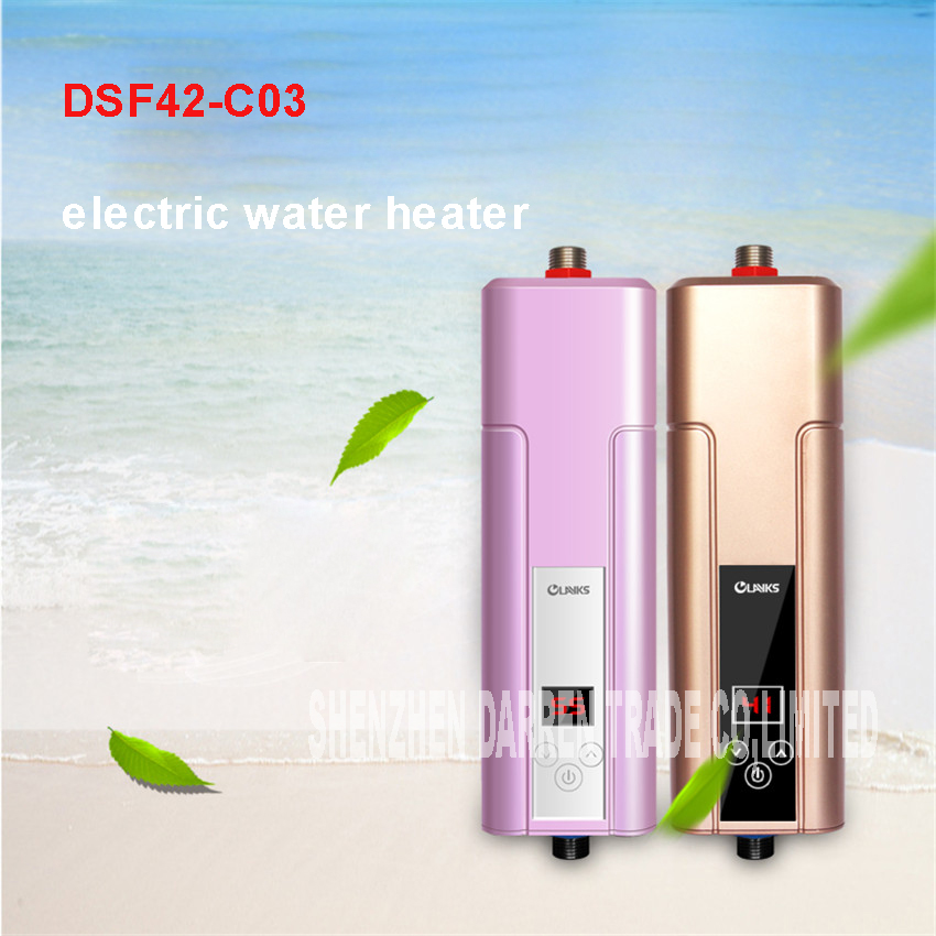 2100-5500 W Instant Water Heater Faucet Electric Water Heater ABS, toughened glass Material DSF42-C03 electric water heater