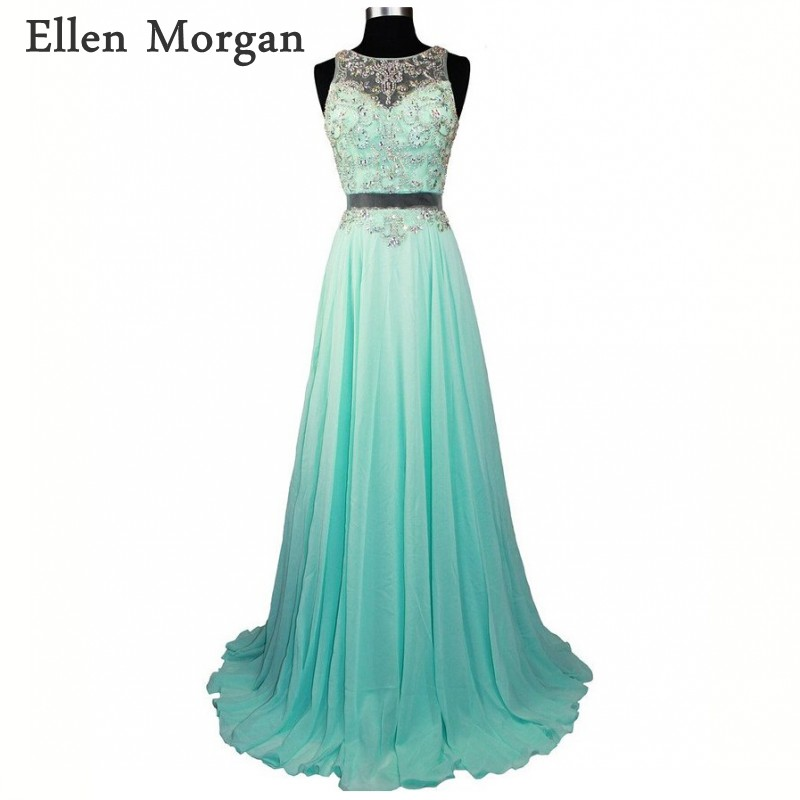 Sexy Chiffon   Prom     Dresses   2019 for Pageant Women with Beaded Floor Length Real Photos Formal Party Gowns