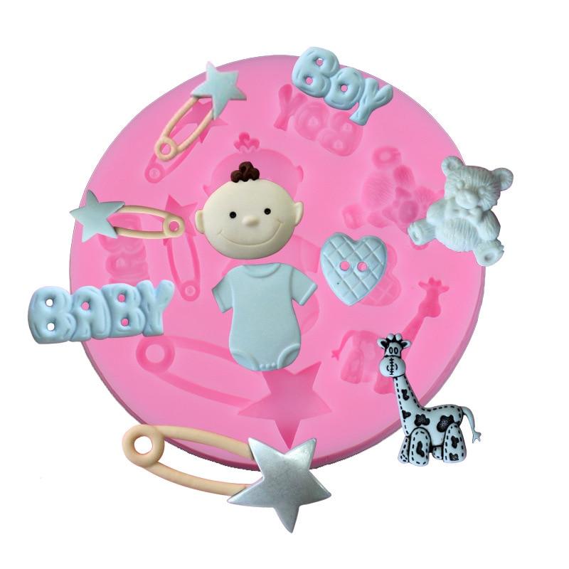 1PC Giraffe Bear Lovely Cartoon Animals Fondant Cake Molds Chocolate Mold for Kitchen Baking Sugarcraft Decoration Tool JK 0875