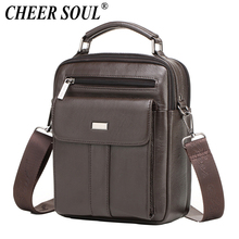 Genuine Leather Messenger Bag Men's Shoulder Bags for Men