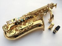 Best Selling French Henri Selmer Paris Saxophone Alto 802 Flat Electrophoresis Gold Saxe Top Musical Instruments