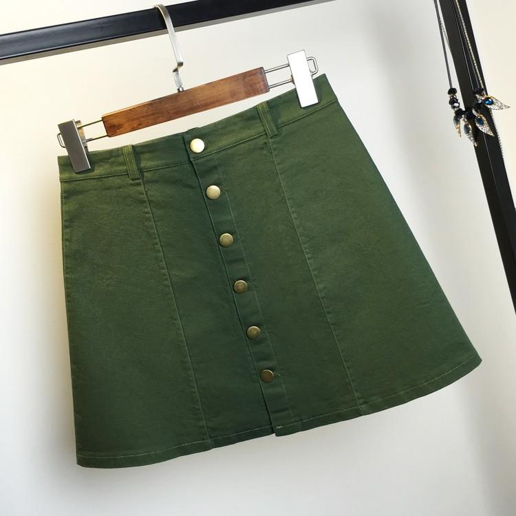 HTB1RUReMFXXXXa3XpXXq6xXFXXX7 - American Apparel button Denim Skirt JKP265