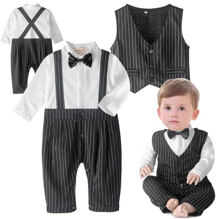 8f5e1e595 DHL EMS Free shipping baby boys Toddlers NEW Gentlemen 3pc Suit shirt  Waistcoat Pants Kids Clothing ...