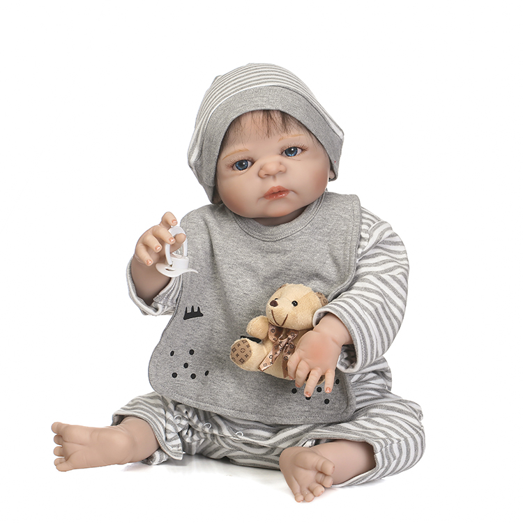 NPKCOLLECTION reborn doll with soft real gentle  touch  with full vinyl body and real boy gender touch gift for kids npkcollection victoria reborn baby soft real gentle touch full vinyl body wig hair doll gift for children birthday and christmas