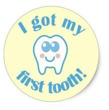 1.5 дюйма я получил мой первый зуб Классический круглый Стикеры