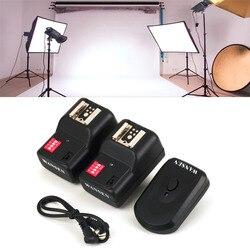 Wysokiej jakości bezprzewodowy 4 kanały praktyczne nadajnik wyzwalacza błysku z 2 odbiorniki zestaw dla Nikon dla Canon PT 16GY w Przycisk wyzwalania migawki od Elektronika użytkowa na