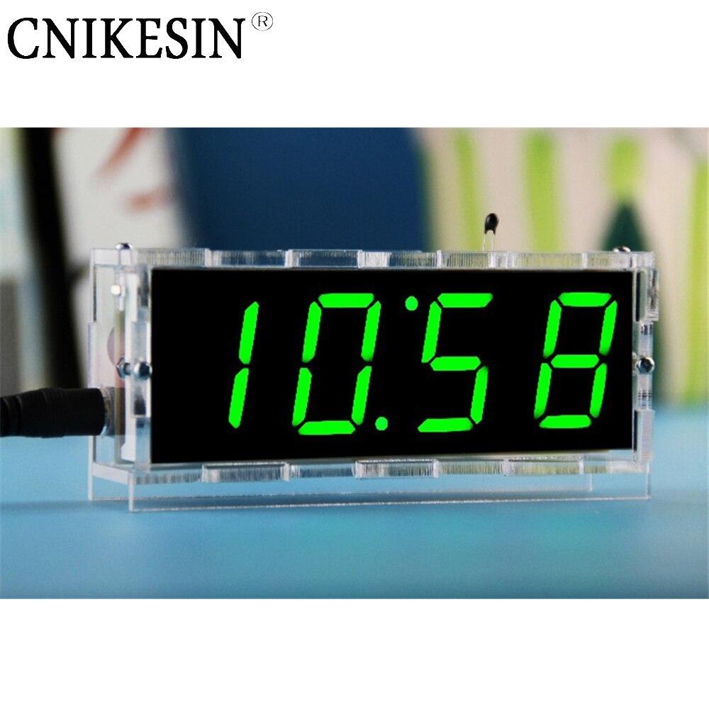 CNIKESIN BTC565 4 Bits Digital Tube DIY kit LED electronic clock microcontroller LED digital clock time