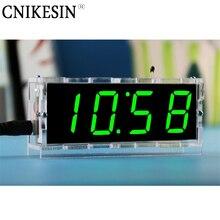 Светодиодные электронные часы и термометр.