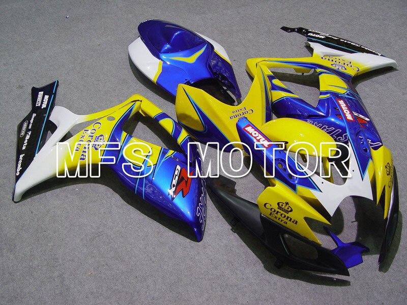 Формы для Suzuki GSXR600/750 К6 2006 2007 06 07 Впрыски ABS Обтекателя комплекты GSXR600 750 06 07 - Корона - желтый/синий
