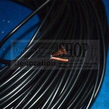 Envío Gratis cable de lámpara de mesa de plástico negro PVC 2*0,75mm cable eléctrico vintage lámpara de techo Edison cable de alimentación